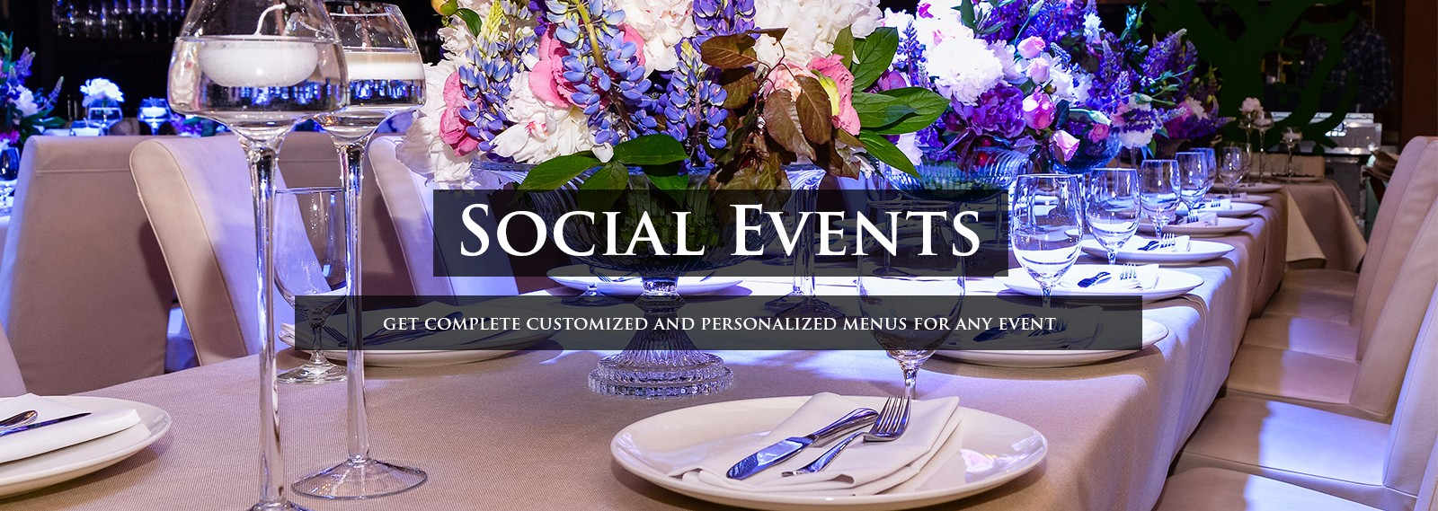catering order for social events
